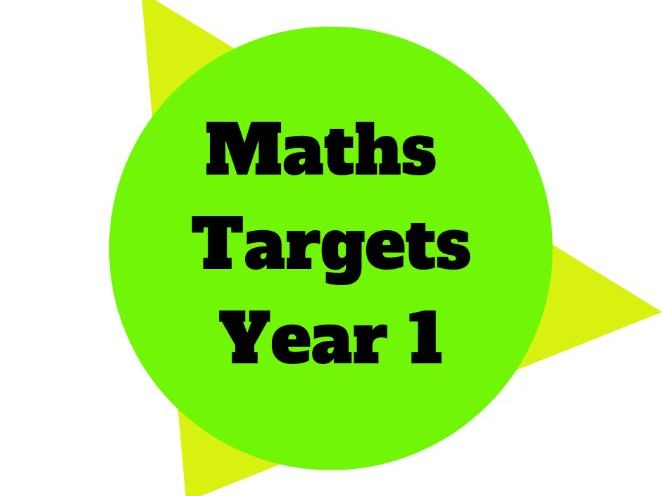 Maths Target Sheets Year 1