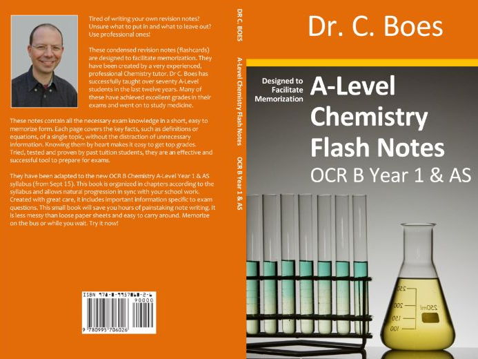 OCR B A-Level Chemistry Condensed Revision Notes (Flashcards) Y1/AS