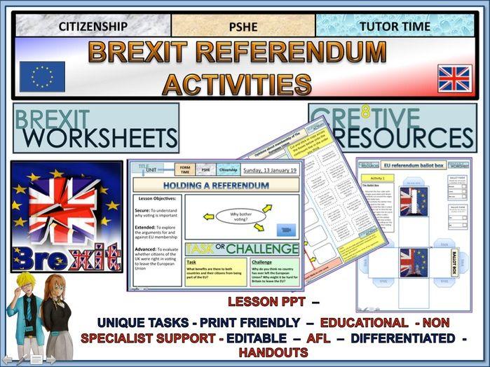 Brexit referendum lesson