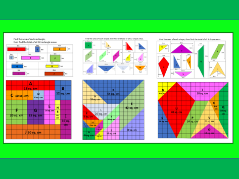 Area's in Colour x 3 Powerpoint