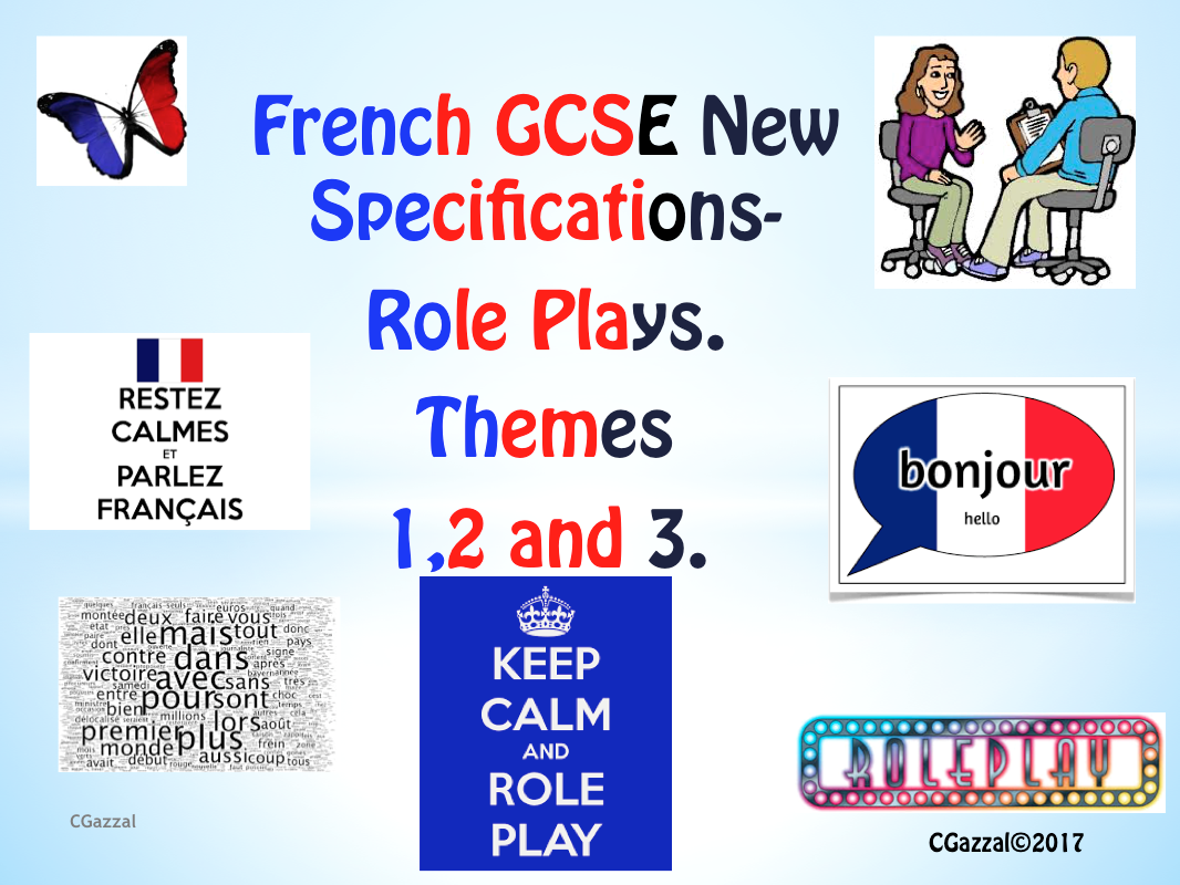 FRENCH GCSE New Specifications - Role-Plays.