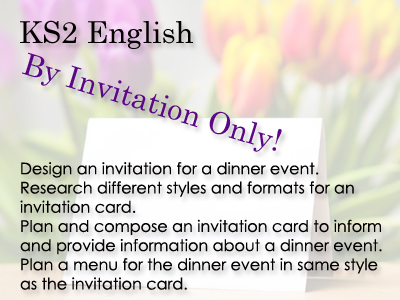 KS2 English - By Invitation Only!