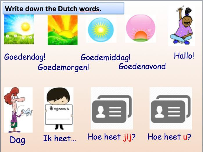 Lesson 1: Greetings and Numbers in Dutch