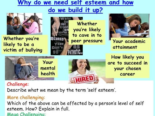 Self Esteem PSHE / Tutor Time