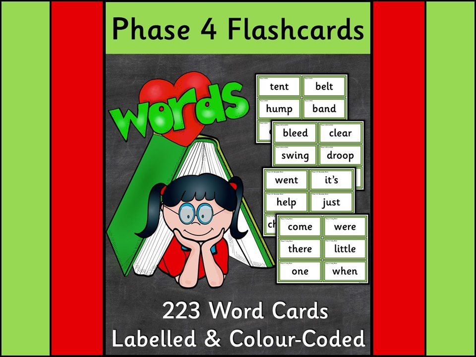 Phonics: Phase 4 Word Flashcards