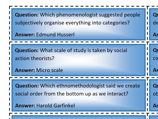 Quiz quiz trade: social action theories