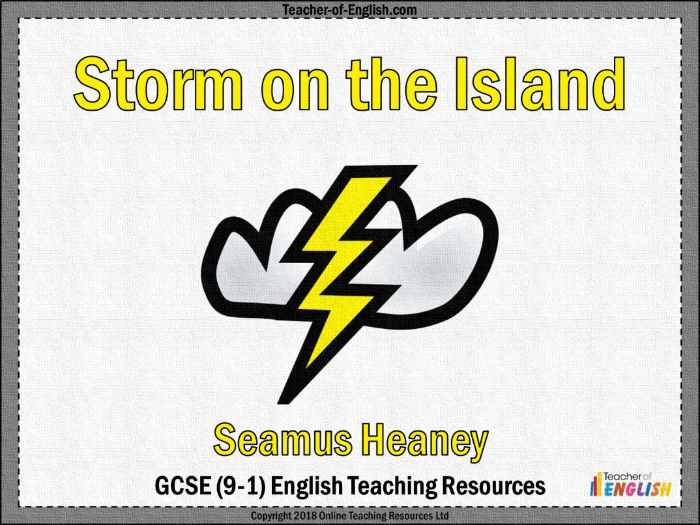 Storm on the Island (PowerPoint and worksheets)
