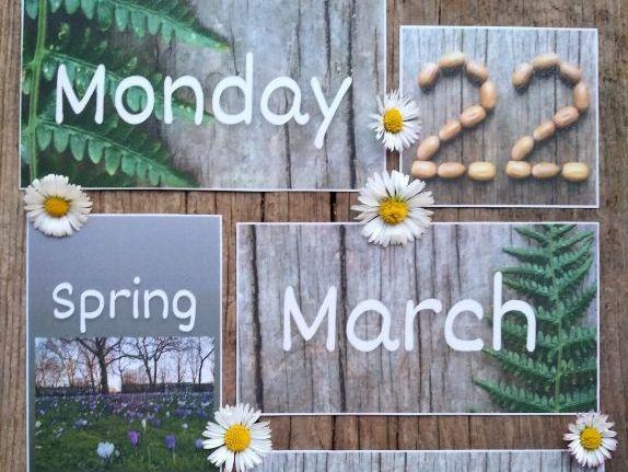 Nature calendar set