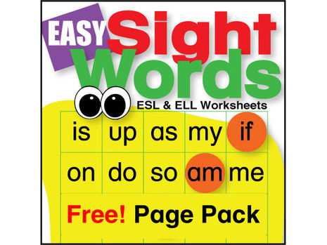 Easy Sight Word Page Pack