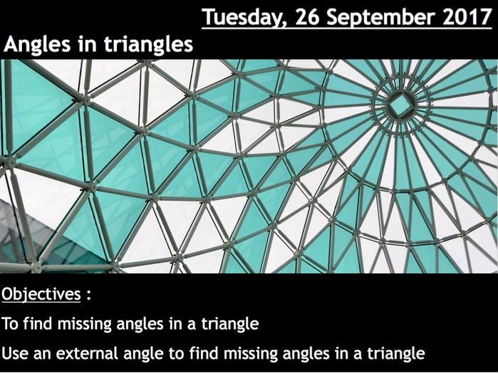 ProjectALesson : Angles in triangles