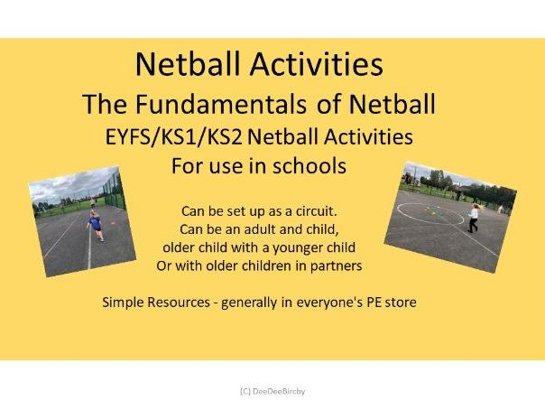 KS2/1 EYFS Netball Activities No. 2
