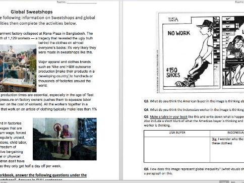 Global Inequalities - Sweatshops