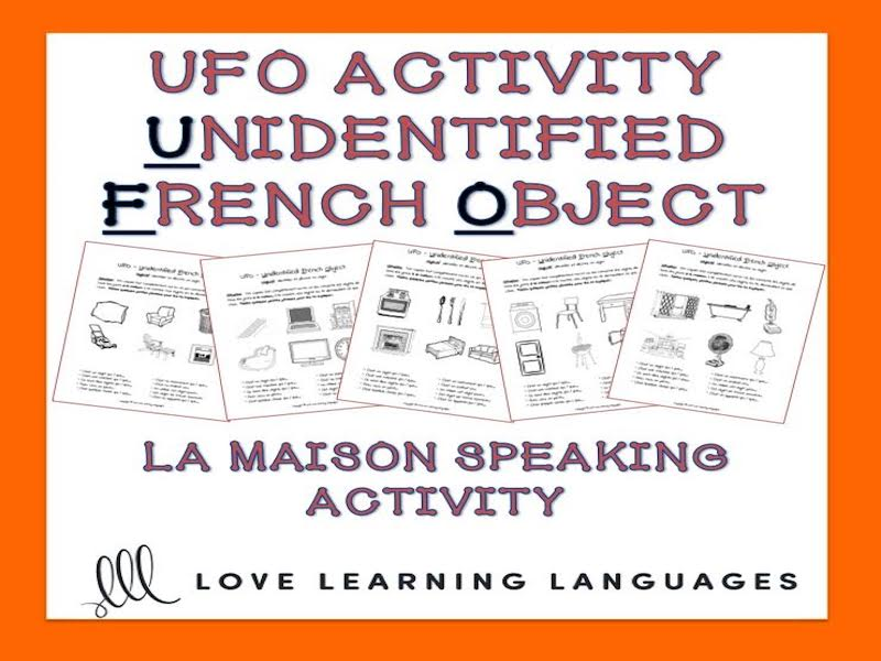 GCSE FRENCH: French speaking activity-La Maison-Unidentified French Object Paired Activity