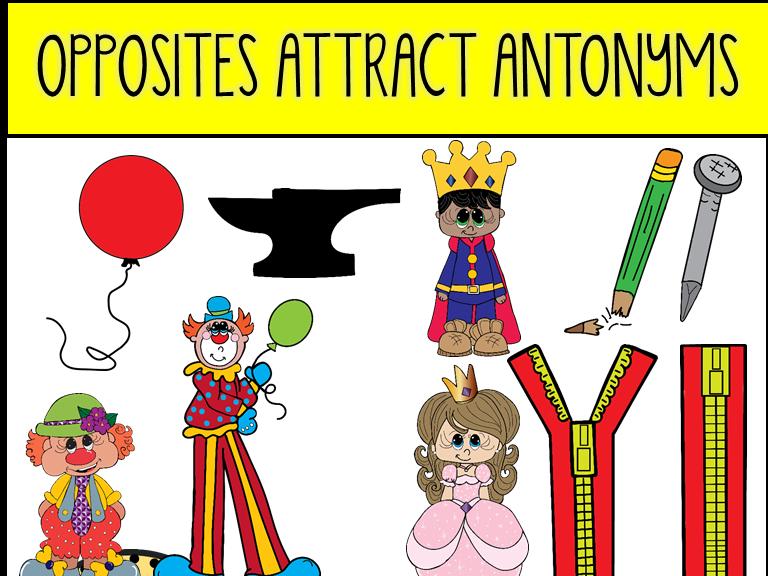 Opposites Attract Antonyms Clip Art