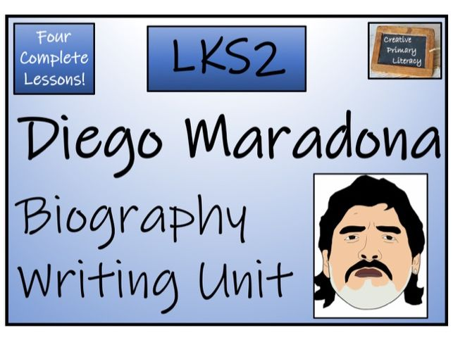 LKS2 Diego Maradona Biography Writing Activity