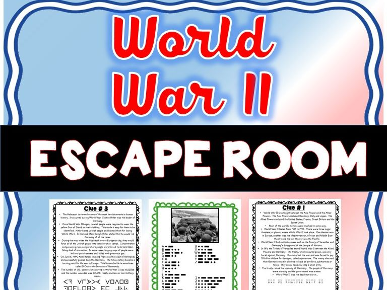 World War II ESCAPE ROOM: Hitler, Holocaust, FDR, Pearl Harbor