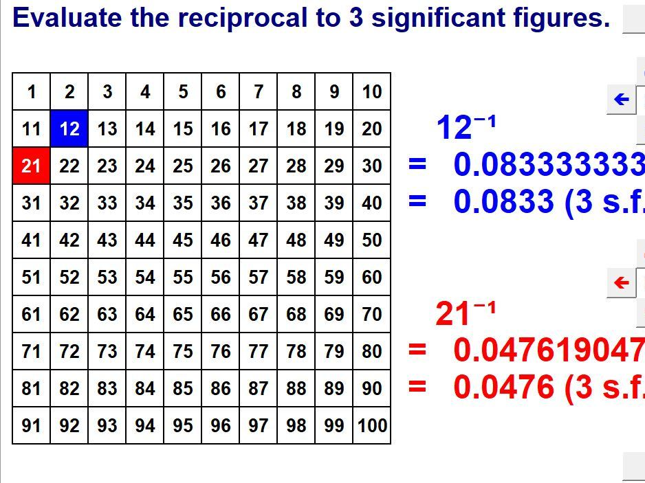 Number Squares Calculations (Higher)