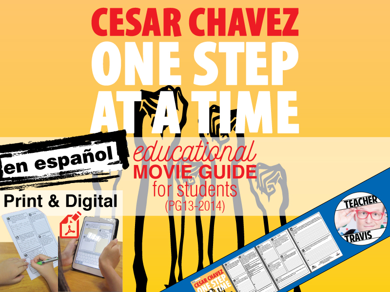 Cesar Chavez Guía de película en Español (Movie Guide Questions in Spanish)