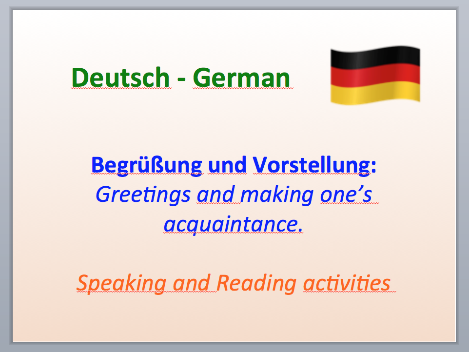 Introduction and Greetings in German