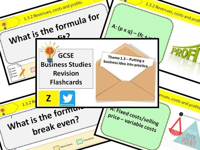 1.3 Putting a business idea into practice - Edexcel GCSE Business Knowledge revision