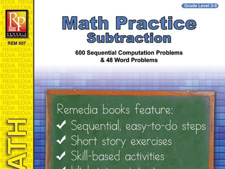Subtraction: Math Practice