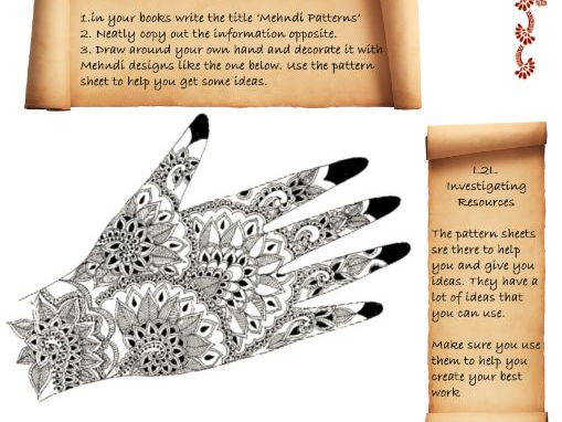 Mendhi Cover Lesson Art & Design