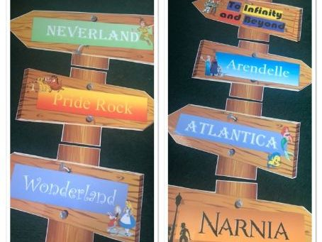 Story Corner Signpost - Disney