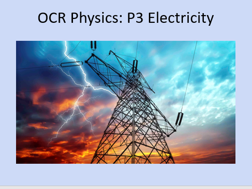 GCSE OCR Electricity Topic