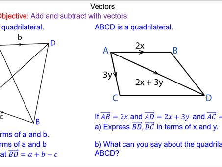 Vector Addition and Subtraction