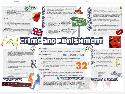 WJEC Eduqas Good and Evil: Crime and Punishment Learning Mat