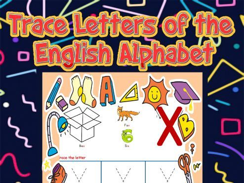 Trace Letters of the English Alphabet Activity Book
