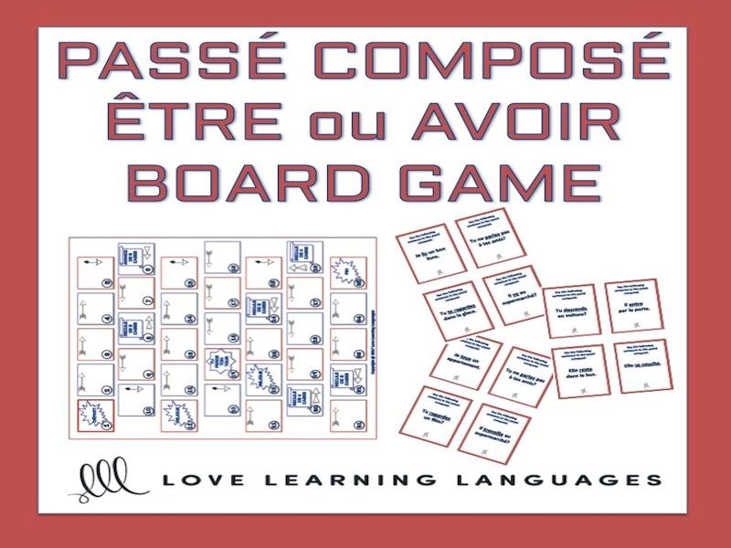 GCSE FRENCH: Être ou Avoir - Passé Composé Board Game