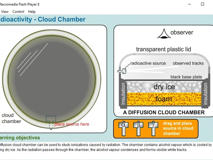 Radioactivity - Cloud Chamber