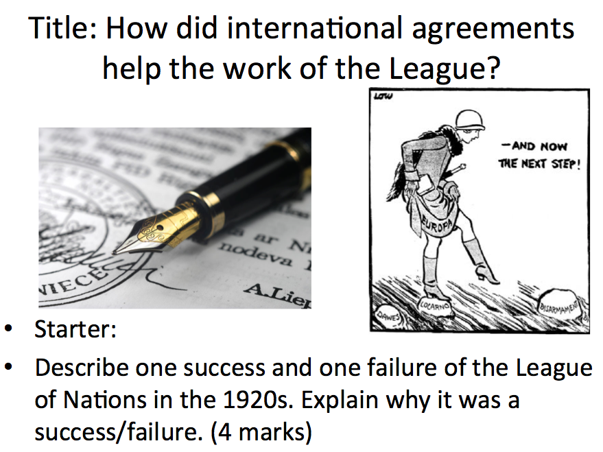 League of Nations - Lesson 5 the international agreements