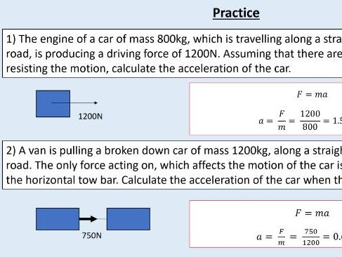 GCSE Physics (4.5.6.2) Forces - Newton's laws of motion (AQA)