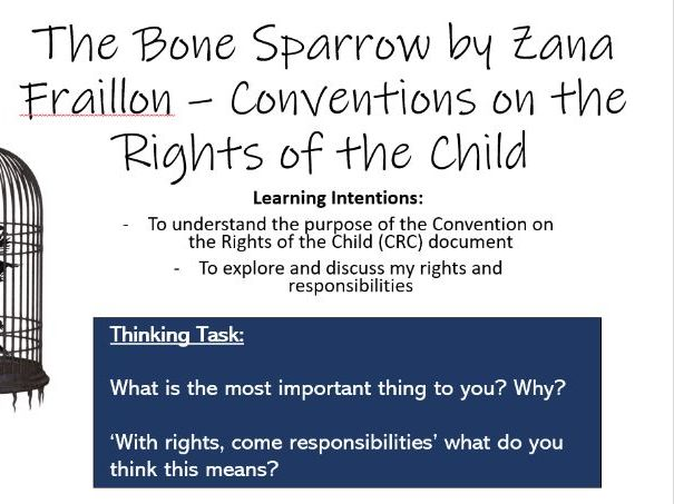 The Bone Sparrow lesson 1 - Convention on the Rights of the Child