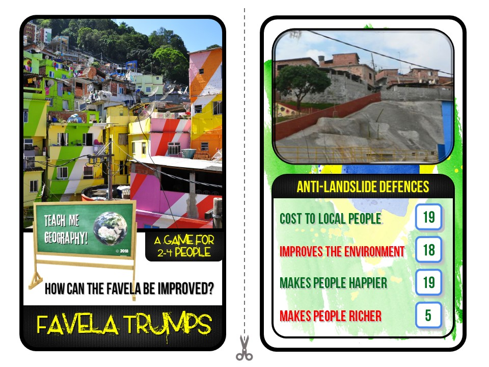 How can the Favela be improved? Trumps Game