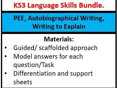 KS3 Language Skills Bundle