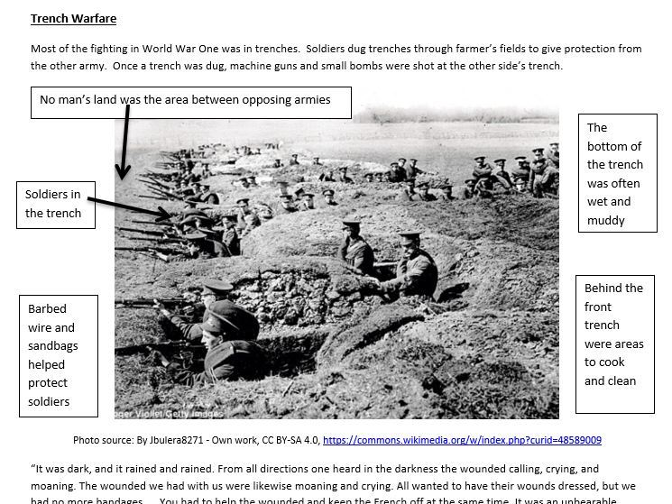 World War I Overview Worksheet