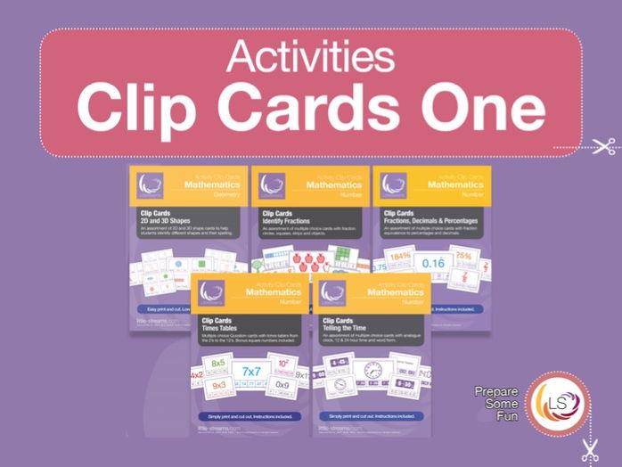 Clip Card Complete BUNDLE One