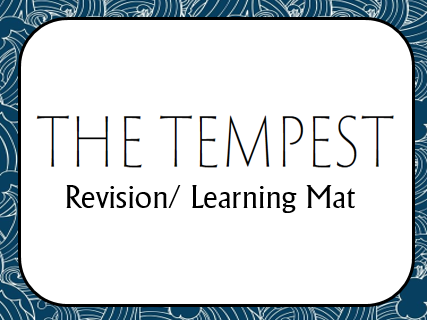 The Tempest Revsion/ Learning Mat
