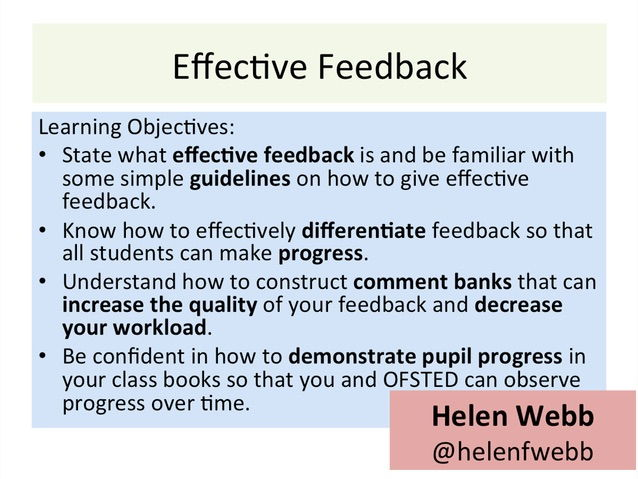 Teacher CPD Package: Effective Feedback