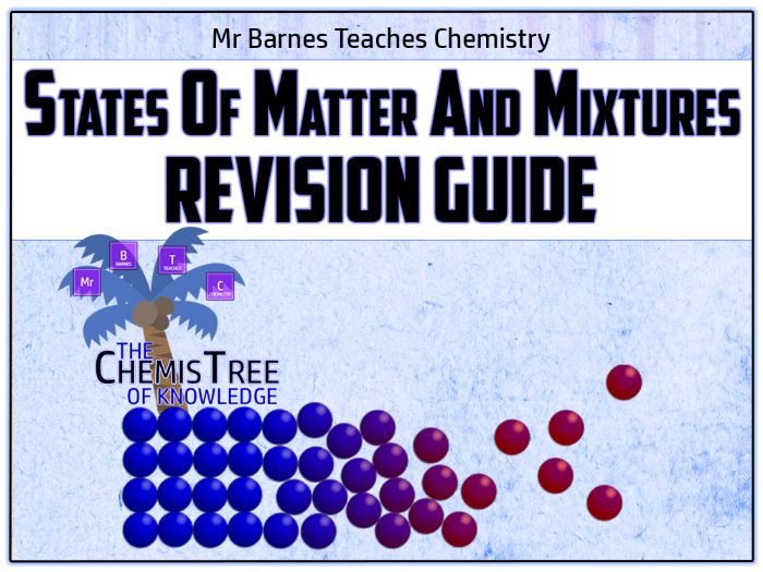 GCSE Chemistry 9-1: States of Matter and Mixtures Revision Guide