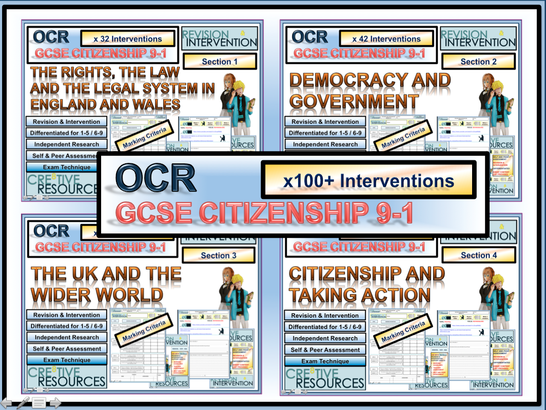 GCSE Citizenship Revision 9-1 OCR Over 120+ Resources