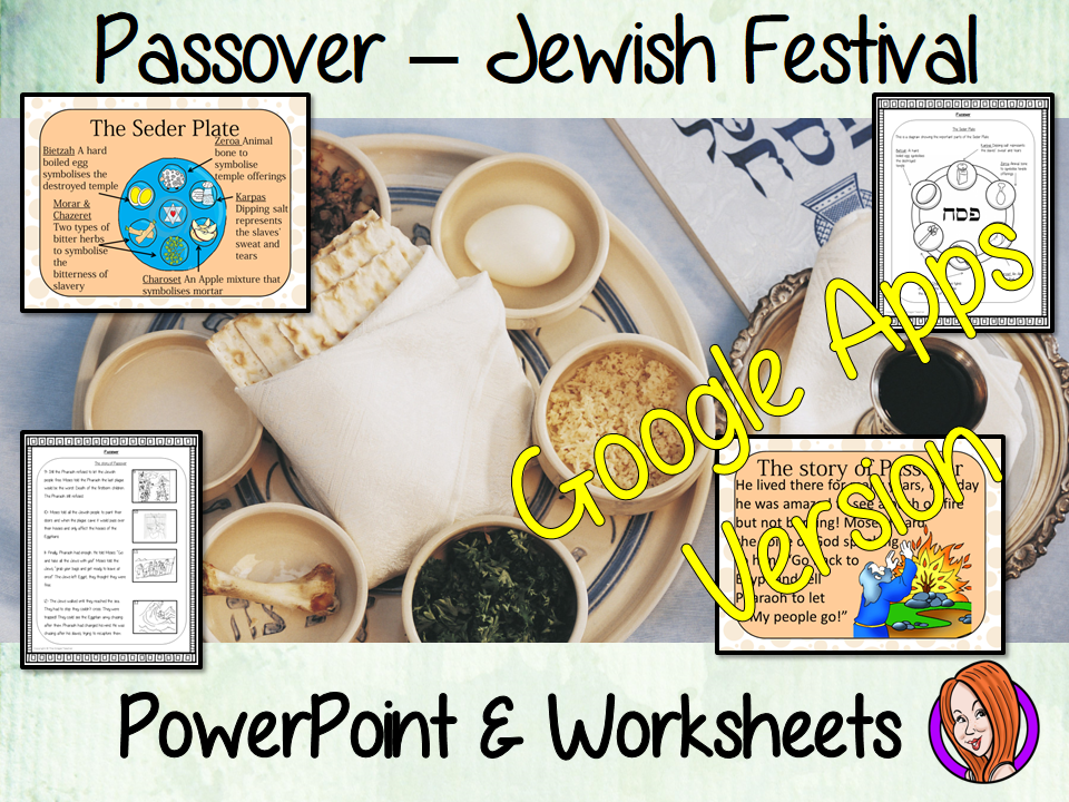 Distance Learning Passover, Jewish Festival Google Slides Lesson