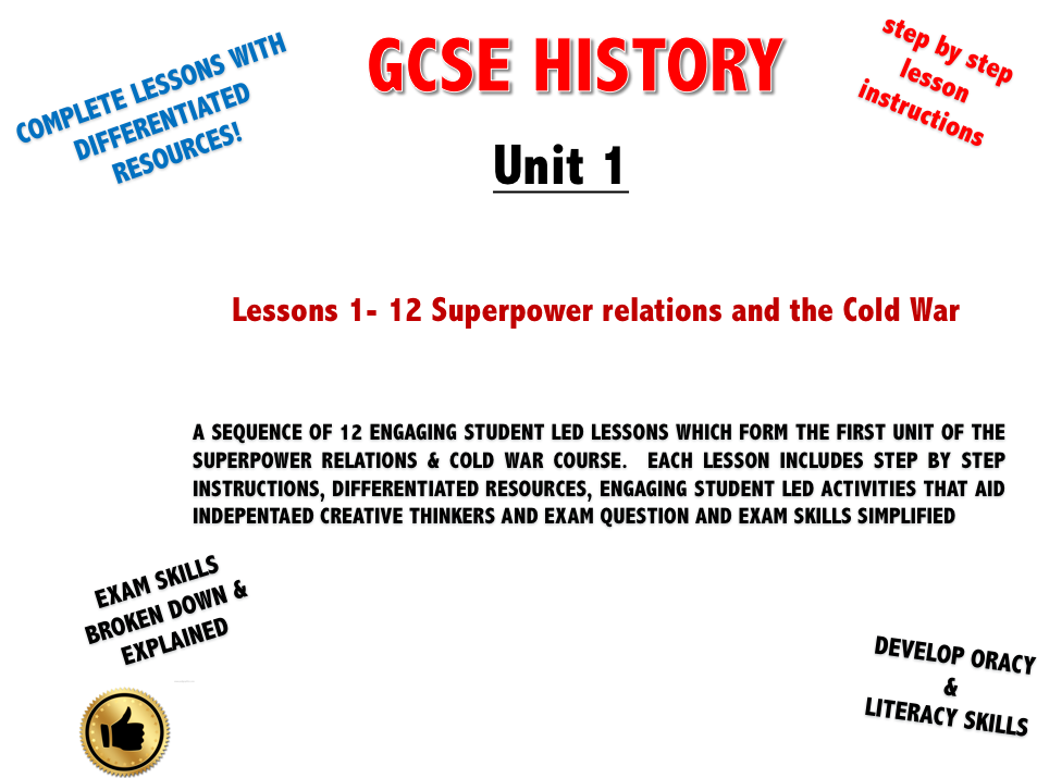 Superpower relations & the Cold War Unit 1: The origins of the Cold War 1941 -58 GCSE (9-1)