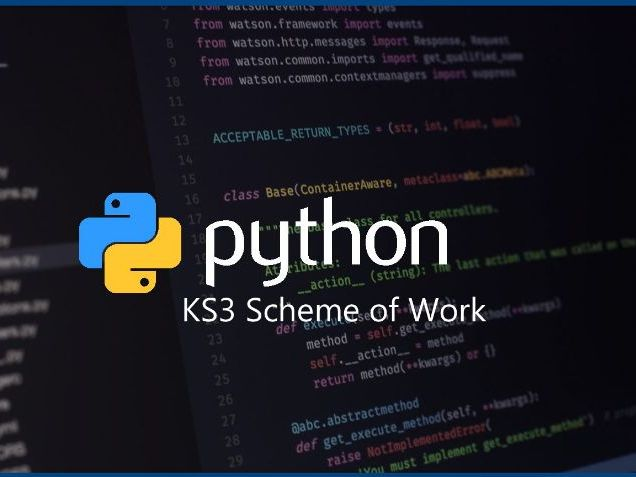 Python Programming Full Scheme of Work