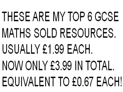 MY TOP 6 GCSE MATHS SOLD RESOURCES