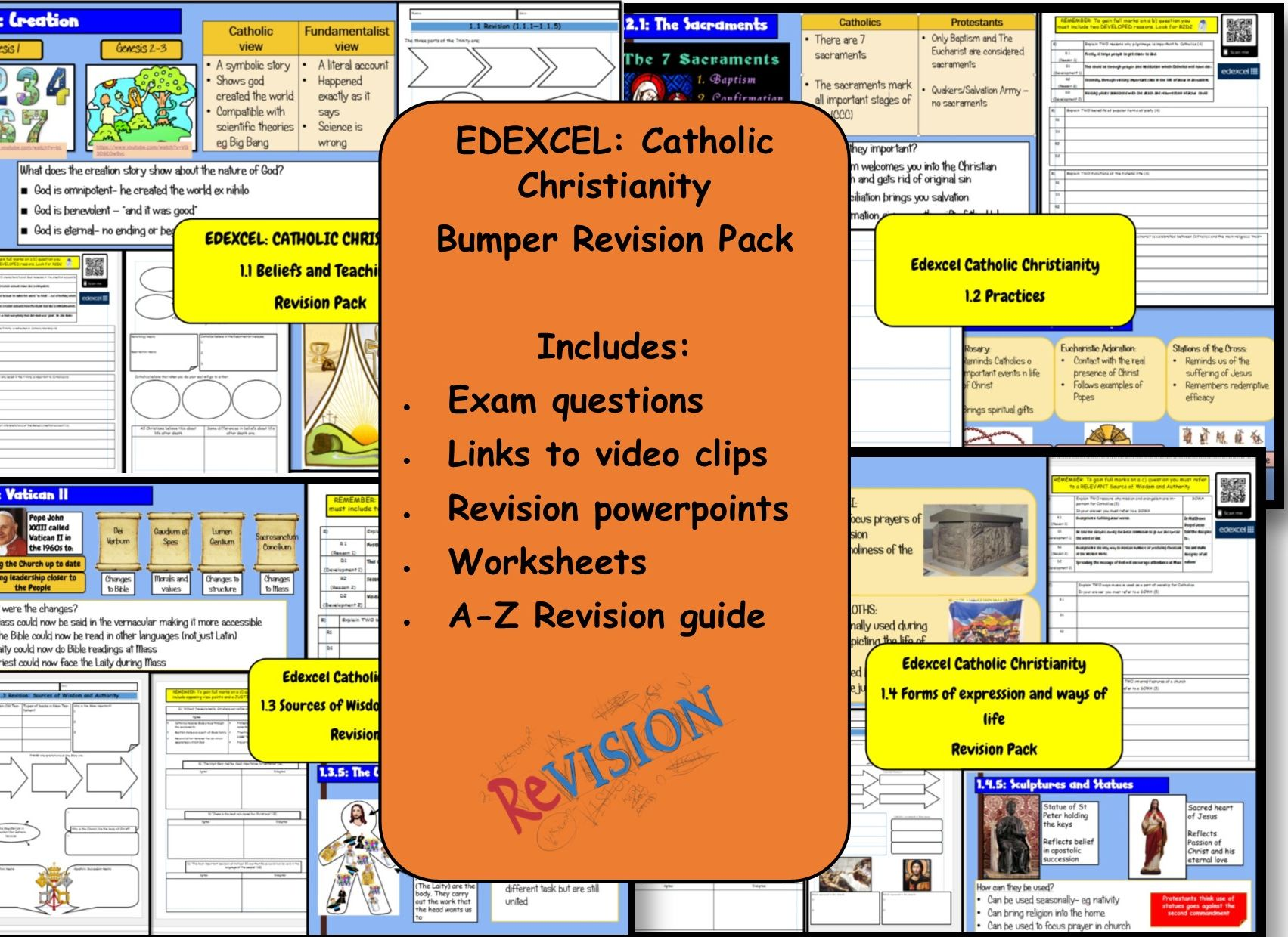 Edexcel: Catholic Christianity GCSE Revision Pack