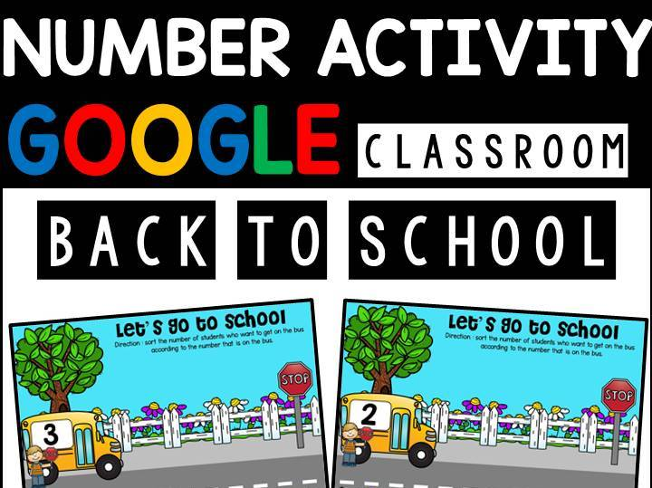 Back To School Number Activity | Google Slides | Google Classroom | Distance Learning